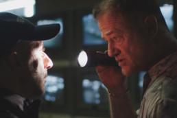 Owen Teale as Murrey with Sacha Alexander as Hieronym in Nocturne