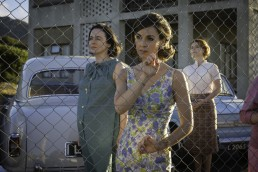 Mary Markham (Amanda Drew), Alison Laithwaite (Jessica Raine) and Honor Martin (Jessie Buckley) look on in the Last Post